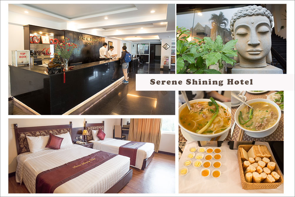 順化住宿推薦︱Serene Shining Hotel.服務人員英文好、態度熱情、資訊專業