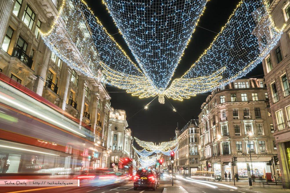 英國自由行︱聖誕街景的閃亮燈景、倫敦最美的天使飛舞
