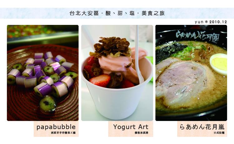 台北,大安.︱Papabubble、Yogurt Art、花月嵐~滿足各時段的味蕾享受